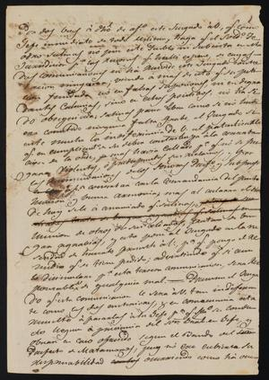 Primary view of object titled '[Letter from Comandante Lafuente to the Laredo Justice of the Peace, June 22, 1841]'.