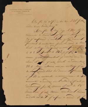 Primary view of [Letter from Martín Perfecto de Cos to the Laredo Ayuntamiento, July 3, 1835]
