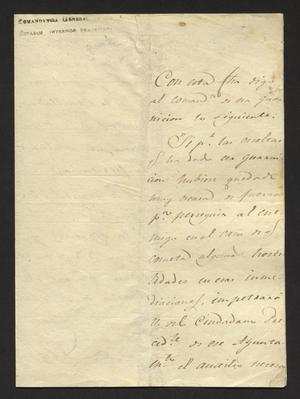 Primary view of object titled '[Letter from Commandante Anastasio Bustamente to the Laredo Alcalde, December 26, 1827]'.