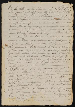 Primary view of [Copy of a Statement from Juan José Gonzalez]