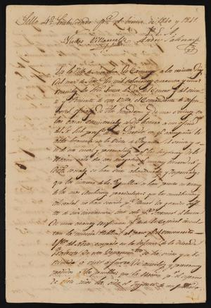 Primary view of object titled '[Copy of a Document in Favor of General Mariano Paredes Arriaga's Pronouncement]'.
