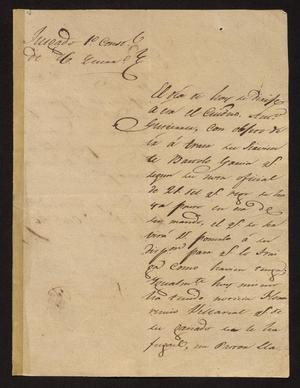 Primary view of [Letter from Santiago Vela to the Laredo Alcalde, October 26, 1831]