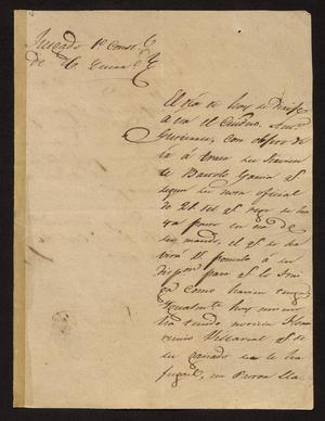 [Letter from Santiago Vela to the Laredo Alcalde, October 26, 1831]