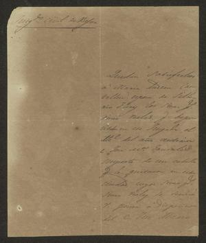 Primary view of [Letter from Francisco Buntillo to the Laredo Alcalde, February 24, 1834]