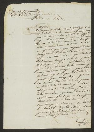 Primary view of [Letter from José María Girón to the Laredo Alcalde, April 14, 1834]