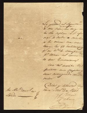 [Letter from Guerra to the Laredo Alcalde, November 4, 1831]