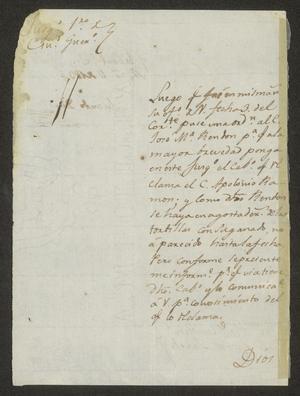 Primary view of [Letter from Eduardo Davila to the Laredo Alcalde, March 11, 1834]