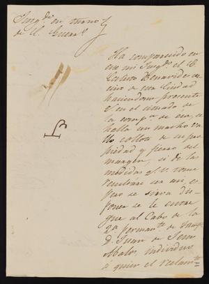 Primary view of [Correspondence between José María Gonzalez Cuellar and the Laredo Alcalde, June 30, 1837]