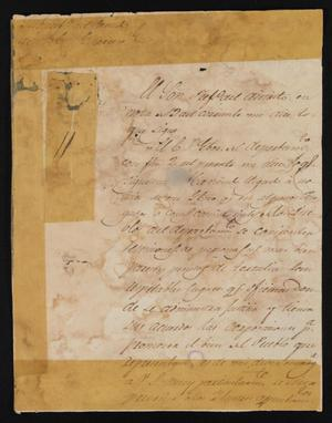 Primary view of object titled '[Letter from Policarzo Martinez to Justice of the Peace Ramón, December 22, 1841]'.