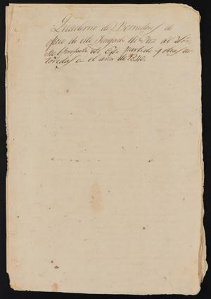 Primary view of object titled '[Correspondence between the Justice of the Peace and the Sub-Prefect]'.