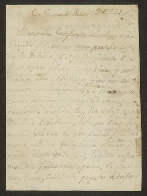 Primary view of [Letter from José Marí Barrera to the Laredo Alcalde, September 9, 1833]
