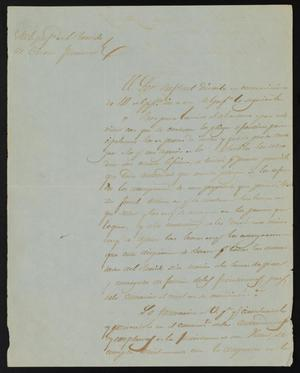 Primary view of object titled '[Letter from Policarzo Martinez to the Justice of the Peace, August 2, 1841]'.