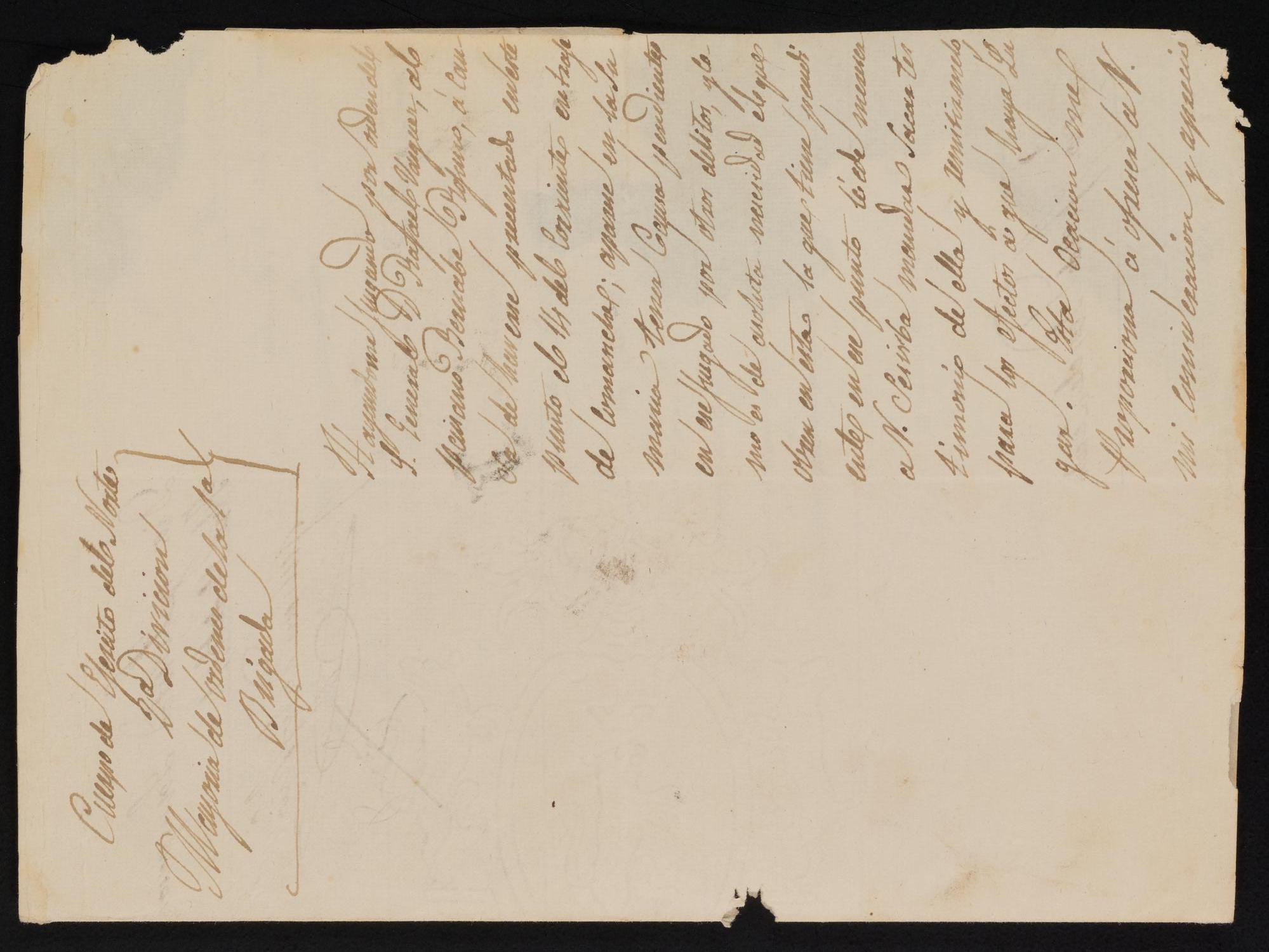 [Letter from Julian de los Ríos to the Justice of the Peace, February 19, 1841]                                                                                                      [Sequence #]: 1 of 3