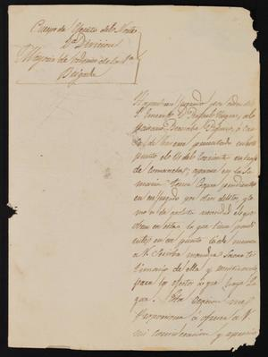 Primary view of object titled '[Letter from Julian de los Ríos to the Justice of the Peace, February 19, 1841]'.