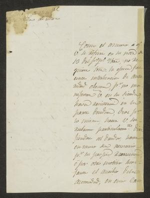 Primary view of [Letter from Rafael Ramirez to the Laredo Alcalde, December 17, 1834]