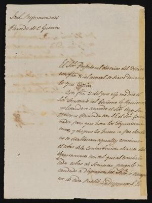 Primary view of [Letter from José Antonio Flores to the Justice of the Peace, September 18, 1837]