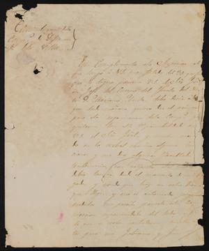 Primary view of object titled '[Correspondence between José María González and Justice of the Peace García, December 15, 1840]'.