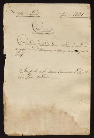 Primary view of [Documents from the Trial of María Gertrudis Díaz]