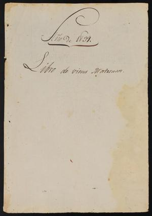 Primary view of object titled '[Cover Page for Book Concerning Lands in Abeyance]'.