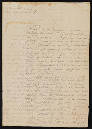 Primary view of object titled '[Letter from Comandante Lafuente to the Laredo Justice of the Peace, June 19, 1841]'.