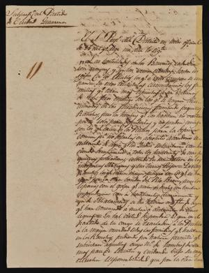 Primary view of [Letter from Policarzo Martinez to the Ayuntamiento in Laredo, March 29, 1842]
