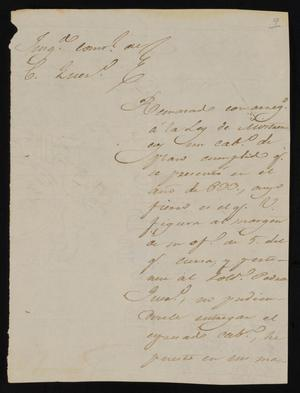 Primary view of [Letter from Rafael Uribe to the Laredo Alcalde, January 8, 1835]