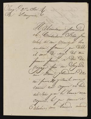 Primary view of [Letter from Domingo García to the Laredo Justice of the Peace, April 23, 1840]