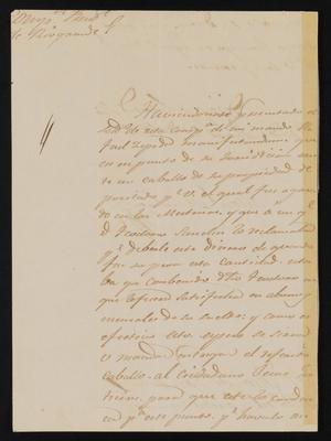 Primary view of [Letter from Manuel Menchaca to the Laredo Justice of the Peace, August 21, 1841]