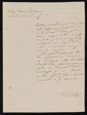Primary view of [Letter from José Antonio Flores to the Laredo Alcalde, September 8, 1837]