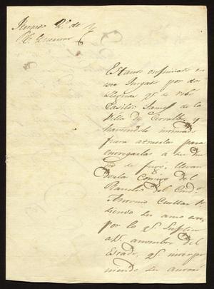 [Letter from Rafael Treviño to the Laredo Alcalde, October 13, 1831]
