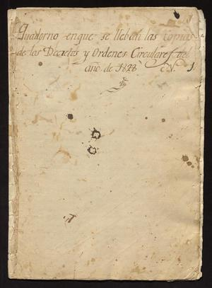 Primary view of object titled '[Collection of Decrees, Orders, and Circulars of 1828]'.