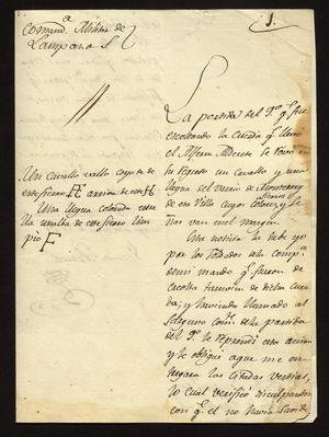 Primary view of [Letter from Vicente Arreola to the Laredo Alcalde, June 2, 1827]