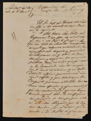 Primary view of [Letter from Rafael Uribe to the Laredo Alcalde, June 6, 1843]