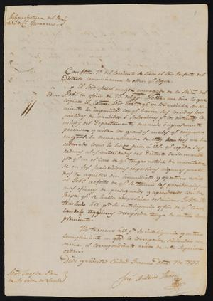 Primary view of [Letter from José Antonio Flores to the Laredo Justice of the Peace, December 9, 1837]