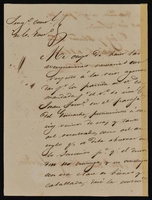 Primary view of [Letter from Mariano Arispe to the Laredo Alcalde, July 5, 1842]