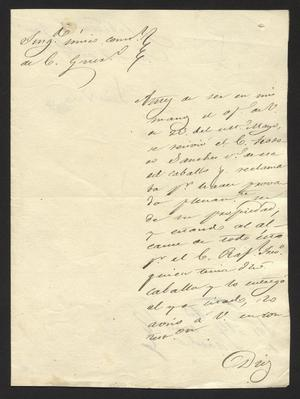 Primary view of [Letter from Luis Vela to the Laredo Alcalde, June 7, 1833]