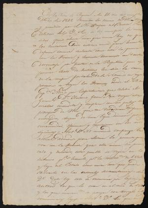 Primary view of [Copy of a Letter from Agasito Galván to the Laredo Justice of the Peace, December 14, 1838]