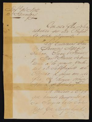 Primary view of [Letter from Jesus Cárdenas to Justice of the Peace Ramón, December 2, 1841]