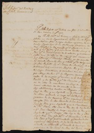 Primary view of [Letter from José Antonio Flores to the Laredo Alcalde, November 12, 1837]