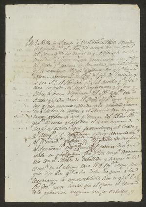 Primary view of object titled '[Statement Concerning Military Funding from the Ayuntamiento]'.