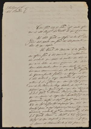 Primary view of [Letter from Rafael Garcia, December 2, 1844]
