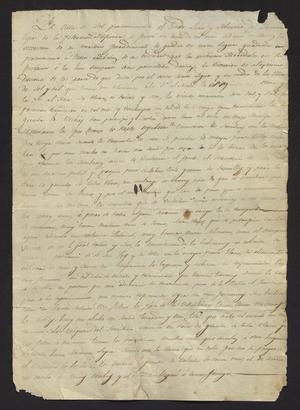 Primary view of [Letter from Francisco Saucedo to the Laredo Alcalde, August 23, 1829]