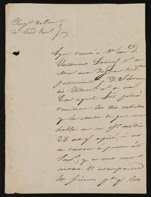 Primary view of object titled '[Letter from Alejo Gutierrez to the Laredo Justice of the Peace, June 1, 1841]'.