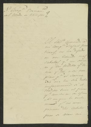 Primary view of object titled '[Letter from Manuel Lafuente to the Laredo Alcalde, February 29, 1832]'.