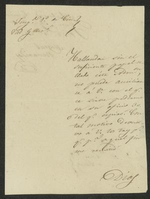 Primary view of [Letter from Miguel Benavides to the Laredo Alcalde, August 2, 1832]