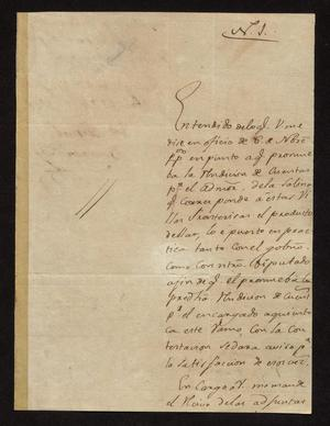 Primary view of [Letter from José Miguel Benavides to the Laredo Alcalde, December 21, 1827]