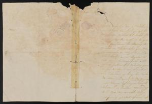 Primary view of object titled '[Letter from Juan Galón to the Laredo Justice of the Peace, December 11, 1840]'.