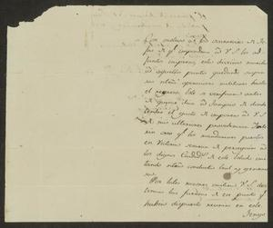 Primary view of [Letter from the Governor of Tamaulipas to the Laredo Ayuntamiento, July 9, 1832]