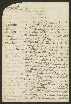 Primary view of [Circular from José María Girón to the Local Ayuntamientos]