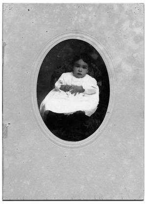 Primary view of object titled 'Alphonso Bustillos as a Baby'.
